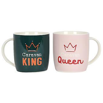 Karavane konge og dronning krus sæt
