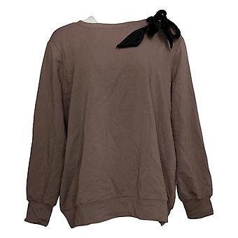 Enhver Kvinders Sweater Reg franske Terry Pullover Brown A372165
