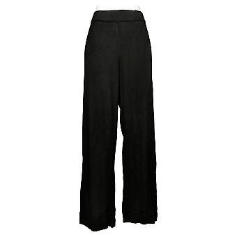 IMAN Global Chic Women's Pants Pull On Palazzo Leg Black 727034001
