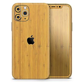 Real Light Bamboo Wood - Skin-kit Compatible With The Apple Iphone 12