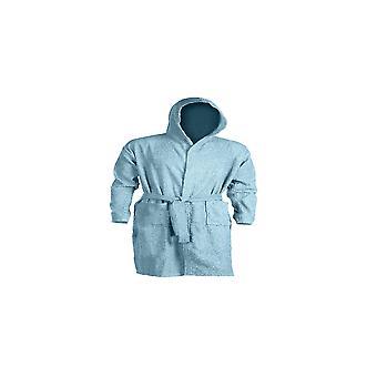 Szlafrok letni, Bawełniany niebieski kolor, L128xA118 cm