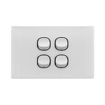 Doss Acrylic 4 Gang Switch Plate