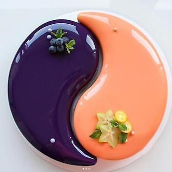 1st Yin Yang Cake Mould Tai Ji Mönster Mus Mögel Silikon Diy Cake Tool