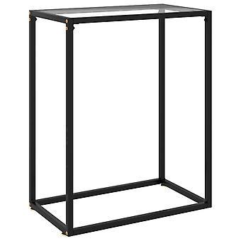 mesa de console vidaXL transparente 60x35x75 cm vidro temperado