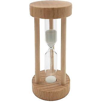 Holz Sanduhr 3 Minute Weiß Sand Sand Sanduhr Sandglas Timer Tischdeko für Kochen Maske Yoga Spielen
