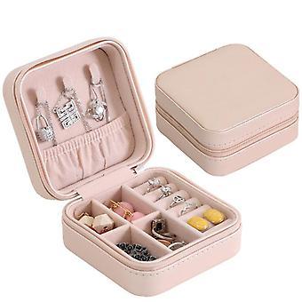 مربع تخزين المجوهرات بسيطة المحمولة مربع سوار السفر