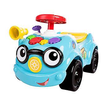 , 2 in 1 Rutschauto zum Schieben oder Fahren, mit echten Autogeräuschen, Gangschaltung und Lenkrad