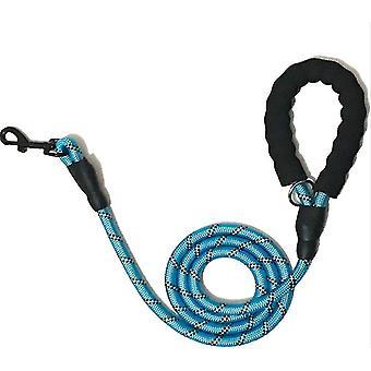 5FT koiran lyijy köysi talutushihna suuret johdot nailon pehmustettu pehmeä kävely heijastava punosta (sininen)