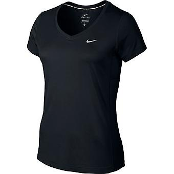 Nike Dri-FIT Miler V-Neck Tee  Womens