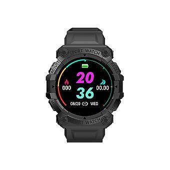 ساعات كرونوس الذكية مع تتبع اللياقة البدنية، IP67 للماء، قياس ضغط الدم، مراقبة معدل ضربات القلب ووظيفة عداد الخطوة (أسود)