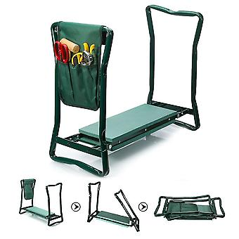 Folding Garden Chair Kneeler Seat Stainless Steel Stool