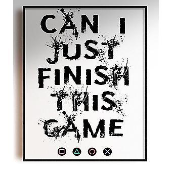 GnG Gaming A5 Word Citat Indrammet Plakater til Kids Soveværelser Artwork Kan jeg afslutte PS