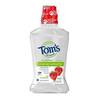 Tom's of maine silly strawberry children's natural mouthwash, 16 oz