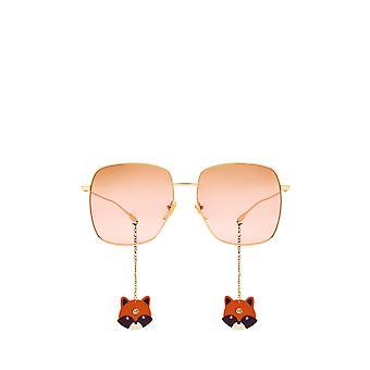 Gucci GG1031S złote okulary przeciwsłoneczne żeńskie