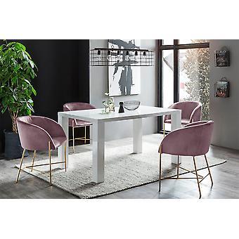 Tomasso's Crotone Dining Table - Modern - White - Mdf - 0 cm x 0 cm x 0 cm