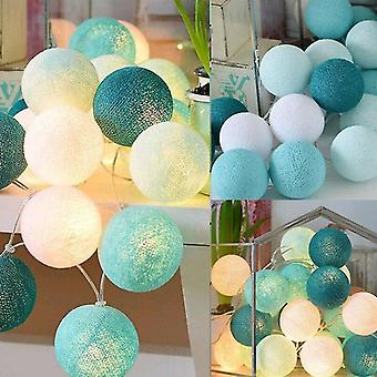 Candle holders led cotton ball chain light 3m 20led usb powered