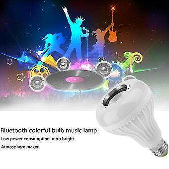 Neon signs e27 smart bulb light dimmable 12w rgbw wireless bluetooth speaker bulb