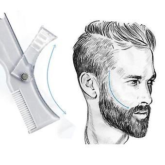 Miehet parta muotoilu muotoilu malli comb läpinäkyvä