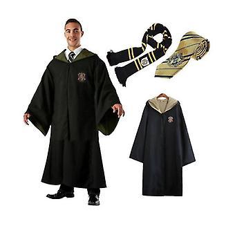גברים בוגרים נשים אשף הארי פוטר שמלה מהודרת גלימה תלבושות קוספליי 3 PC סט