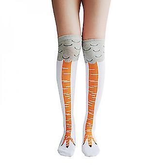 1 paar lustige Huhn Füße Socken 3d Huhn schlanke Beine Knie High Gift Tier Socken