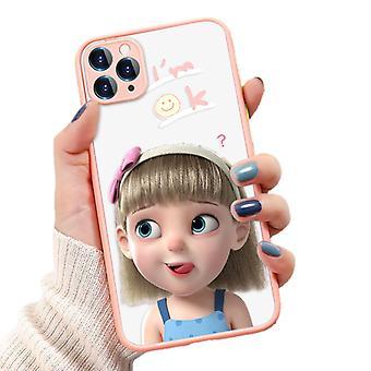 Funny Girl maalattu puhelinkotelo iphone 7 / 8 all-inclusive puhelinkotelo (o139 vaaleanpunainen)