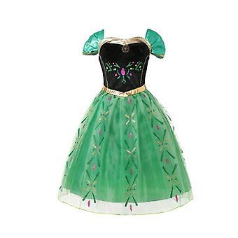 Disney Prinses Elsa Jurk Meisjes Lange Mouw Frozen 2 Halloween Kostuum Kinderen Assepoester Cosplay