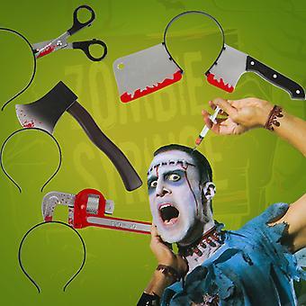 Horror Headband Halloween Decoration Horror Knife Props Halloween Party Supplies Event Decorationscissors