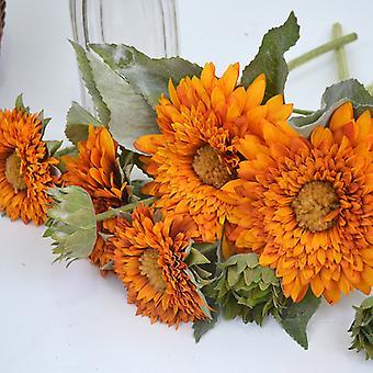 Melaleuca Silk Flower Multicolor Simulation Teddy Sunflower