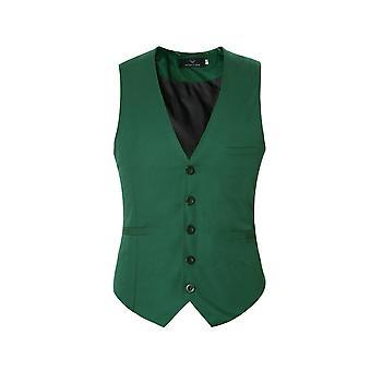 Silktaa Men's Solid Color Single-breasted Slim Waistcoat Vest