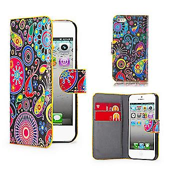 Design Book Leather Case Cover For Apple iPod Touch 5 - Jellyfish