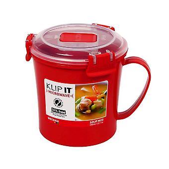 Sistema Red Klip It Microwave Soup Mug,  656ml