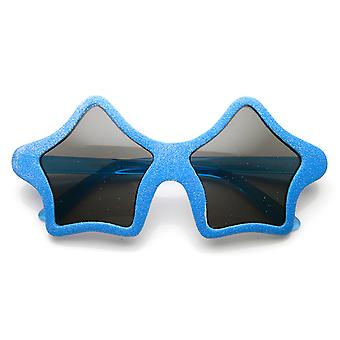 Sternform bunten Spaß Neuheit Party Glitzer Superstar Sonnenbrillen