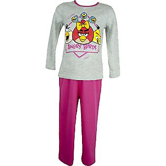 Girls Angry Birds Long Sleeve Pyjama Set