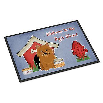 Hond huis de collectie Norwich Terriër de Indoor of Outdoor Mat 18 x 27