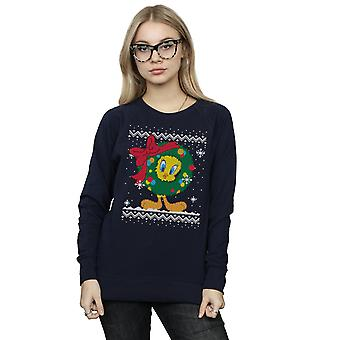 Looney Tunes kvinnors Tweety Pie Christmas Fair Isle Sweatshirt