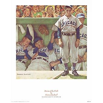 Bunnen av den niende Poster trykk av Norman Rockwell (11 x 14)
