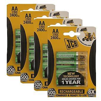 16 x JCB AA 2400mAh akumulatory HR6 opłata i gotowe do użycia