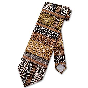 Antonio Ricci SILK NeckTie Made in ITALY Geometric Design Men's Neck Tie #3106-1