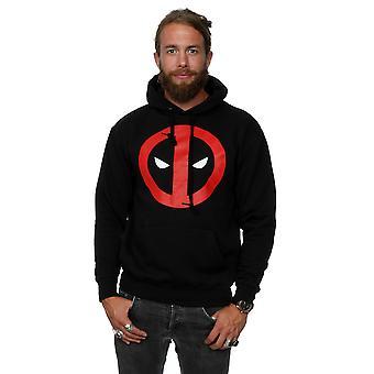 Marvel Men's Deadpool Clean Logo Hoodie