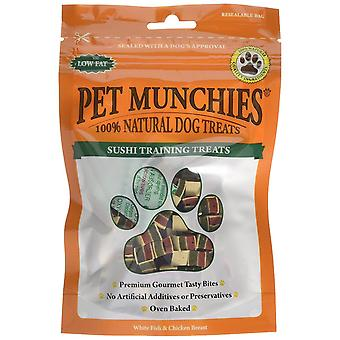 PET Munchies Sushi utbildning hund behandla 50g, 8-Pack