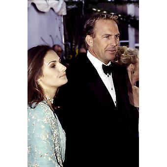 Kevin Costner And Wife Cindy At The Academy Awards March 1999 Celebrity