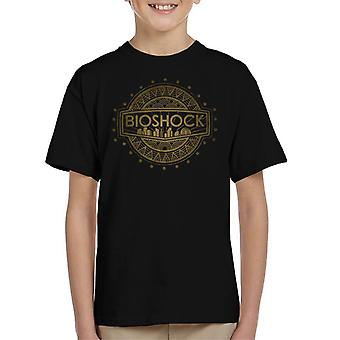 Bioshock Golden Logo Kid's T-Shirt