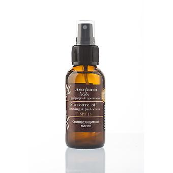 Natural Sun protection care oil SPF 15 Evergetikon 100ml.