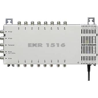 Kathrein EXR 1516 SAT Multischalter Eingänge (Multischalter): 5 (4 SAT/1 Terrestrial) Nr. Teilnehmerzahl: 16