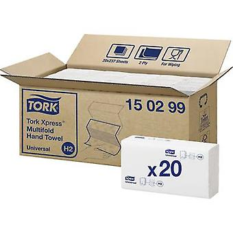 TORK 150299 Xpress Multifold Universal Paper towels (L x W) 23.4 cm x 21.3 cm White 20 x 237 sheets/pack 4740 pc(s)
