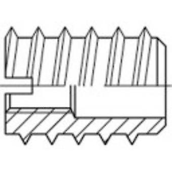 TOOLCRAFT 144019 Thread insert M3 12 mm Steel 100 pc(s)