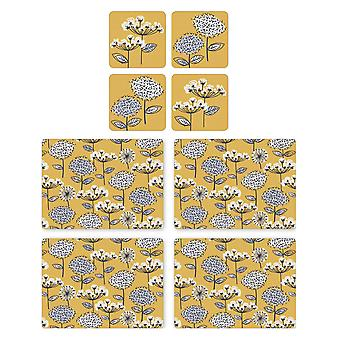 Cooksmart Retro Meadow Placemats and Coasters