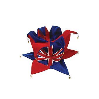Union Jack slitasje Union Jack spøkefugl lue - med bjeller toppen & nederst