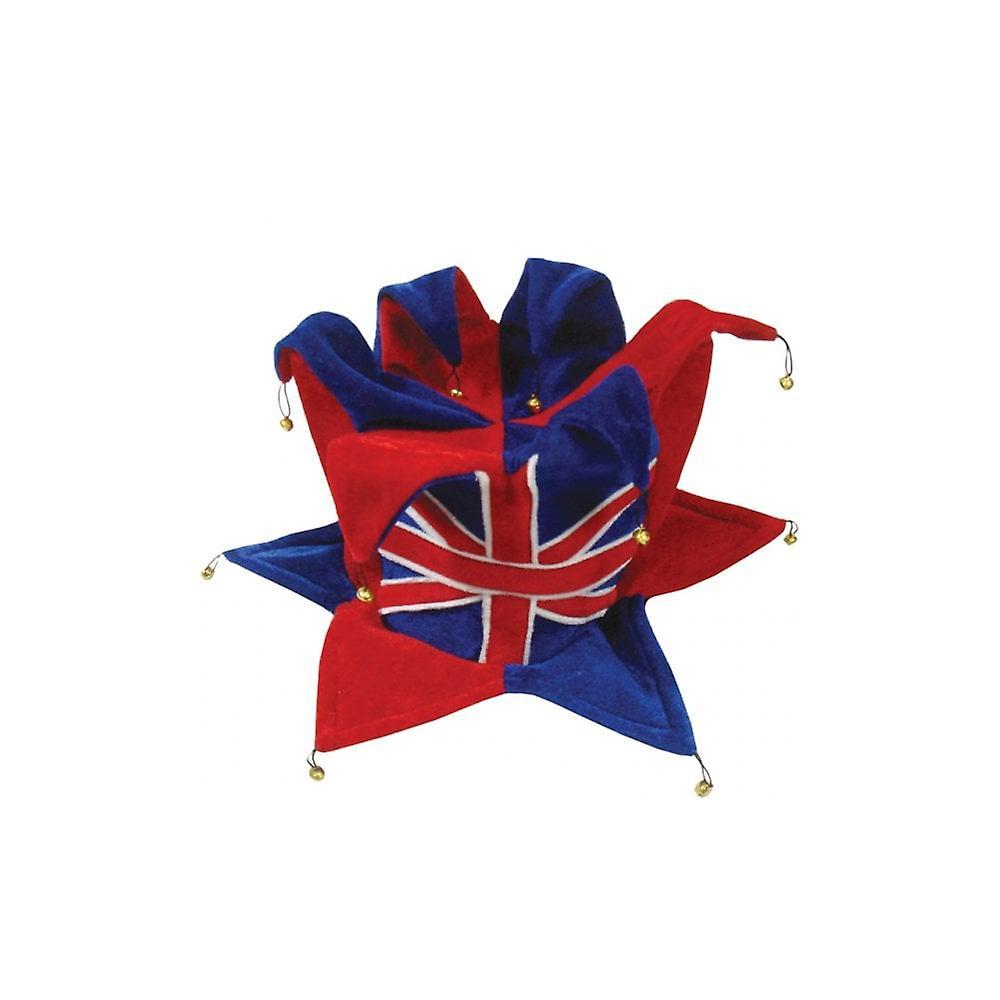 Union Jack Wear Union Jack Jester Hat - With Bells Top & Bottom
