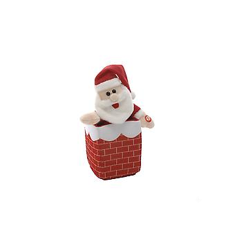 Festive Productions 23cm Animated Christmas Xmas Santa in a Chimney